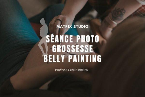 Photos de Grossesse : Le Belly Painting – Photographe à Rouen